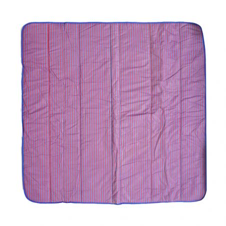 Saco de dormir JUNIOR rayas rojo y azul