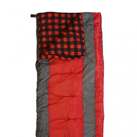 Saco de dormir North Star BICOLOR - gris y rojo