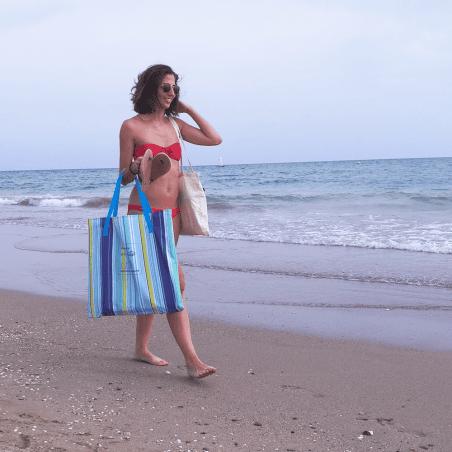 Colchoneta de playa CON REPOSACABEZAS naranja