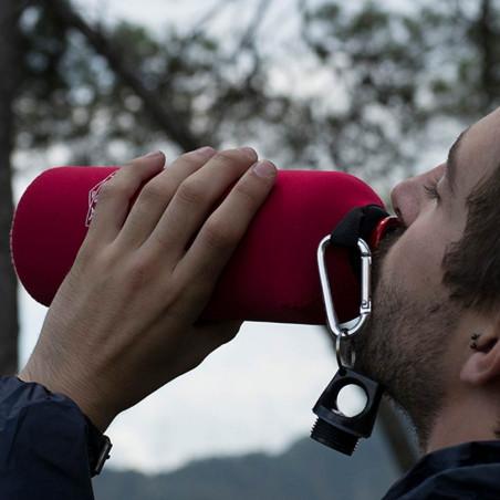 Botella cantimplora HOSA ALUMINIO 1 L CON FUNDA - roja