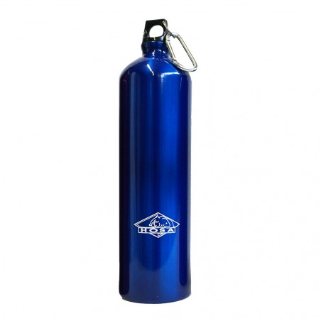 Hosa Aluminio Mosquetón 1,5 Litros azul - Botella cantimplora