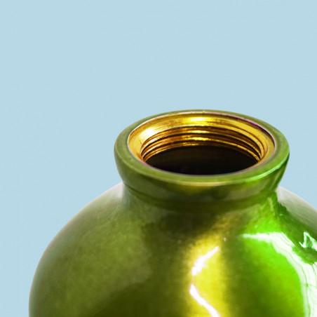 Botella cantimplora HOSA ALUMINIO MOSQUETÓN 0,75L con funda neopreno – pistacho