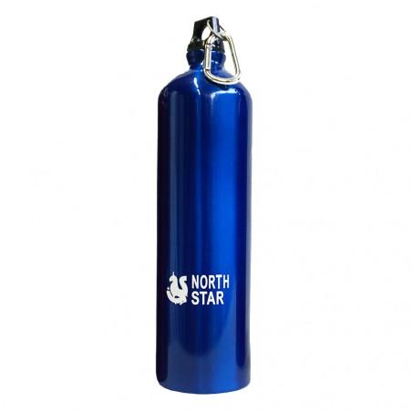 Botella cantimplora NORTH STAR ALUMINIO MOSQUETÓN 1,5L – azul