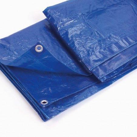 Suelo de camping - LONA DE RAFIA 3,6 X 5,4 m - azul