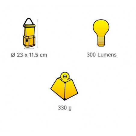 Lámpara de camping OZtrail ARCHER LED 300 lumenes