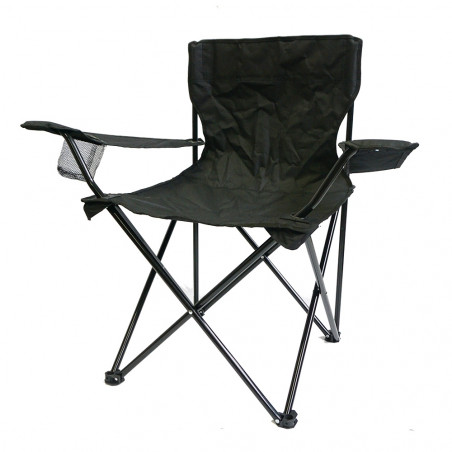 Silla plegable HOSA CAMPER con reposabrazos – all black