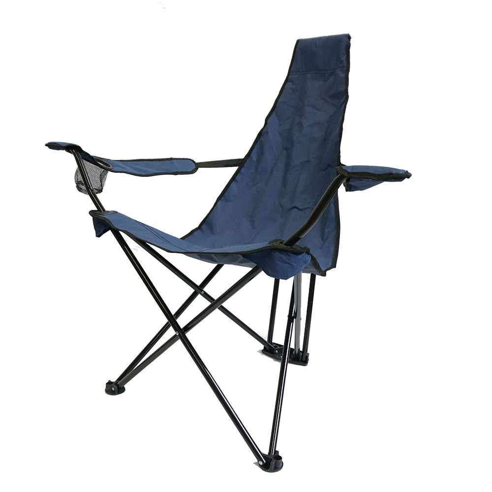 Silla plegable triangular HOSA LAYDBACK con reposabrazos – navy blue
