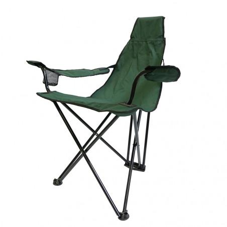 Silla plegable triangular HOSA LAYDBACK con reposabrazos – forest green