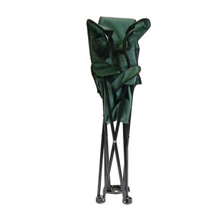 Silla plegable triangular HOSA LAYDBACK con reposabrazos – forrest green