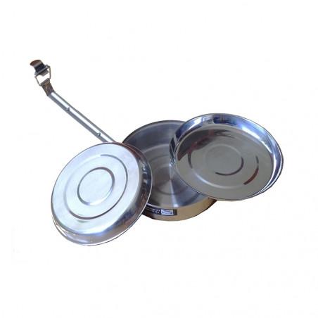 Fiambrera REDONDA 18 CM 3 compartimentos