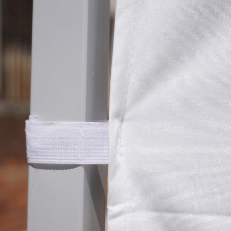 Pared lateral para CARPA 2X3 - blanca