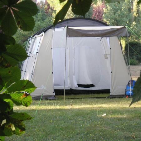 Tienda de campaña grande ROMA 2 habitaciones - blanca