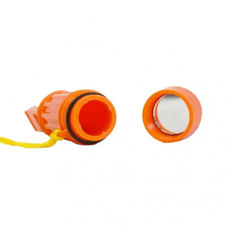 Silbato con brújula HOSA SURVIVAL WHISTLE - naranja