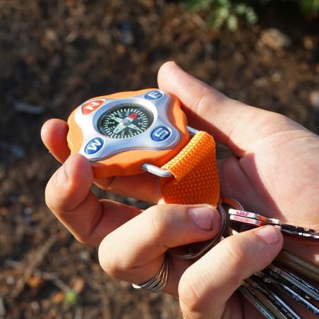 Brújula FLOTANTE COLGANTE llavero - naranja