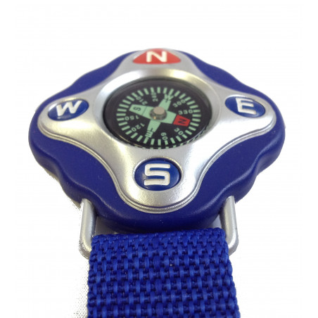 Brújula FLOTANTE COLGANTE llavero - azul