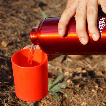Botella cantimplora HOSA ALUMINIO MOSQUETÓN 1L – roja