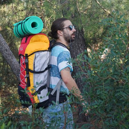 Mochila de trekking FORREST 60 roja