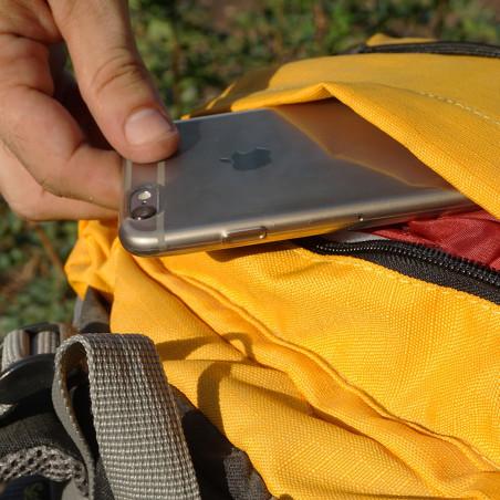 Mochila de trekking TRECK 45 amarilla