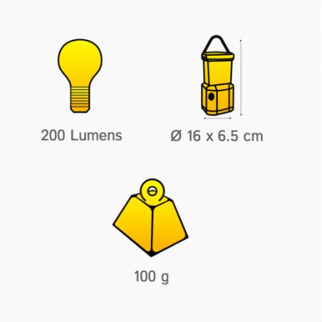 Lámpara farol OZtrail ARCHER LED COMPACT 200 lumenes
