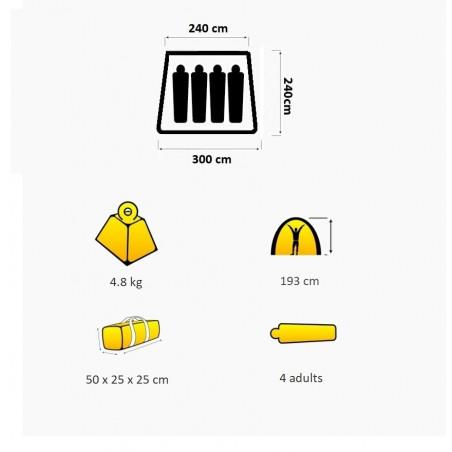 Módulo para carpa plegable OZtrail PORTICO 3.0 – gris