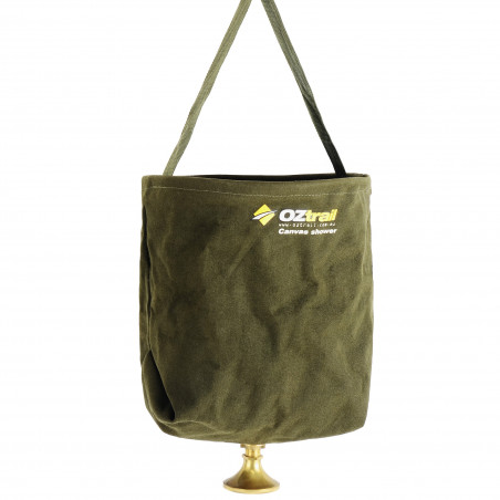 Ducha portátil de lona OZtrail CANVAS SHOWER BUCKET – verde bosque