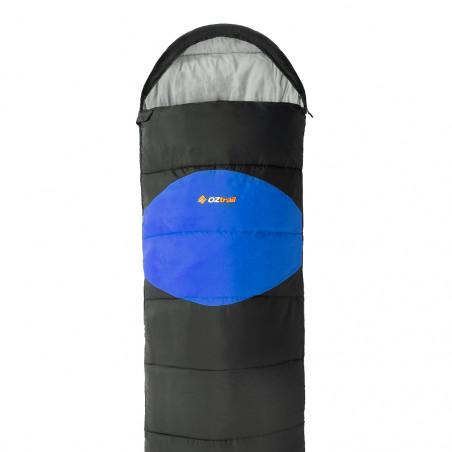 Saco de dormir alpino OZtrail STURT HOODED +7º– azul y gris