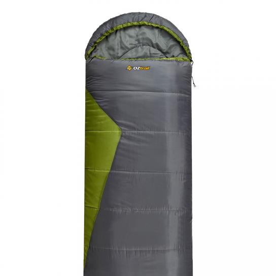 Pack 2 Sacos de Dormir alpinos Bass Twin Pack Oztrail Verde y Gris