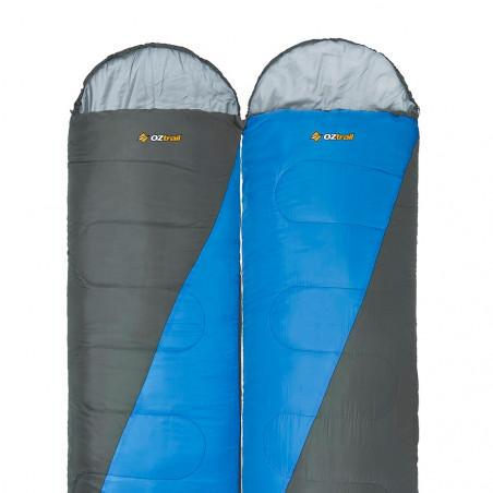 Pack 2 sacos de dormir alpinos OZtrail FRASER TWIN PACK +2º– azul y gris