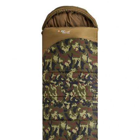 Saco de dormir alpino OZtrail LAWSON TACTIX HOODED – camu