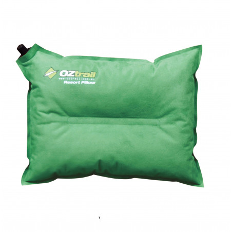 OZtrail Resort Pillow verde - Almohada autohinchable de viaje