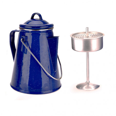 Cafetera OZtrail ENAMEL COFFEE POT 2L para 8 tazas de café - azul