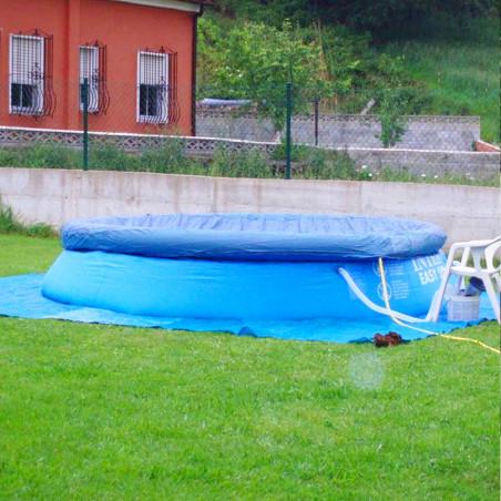 Suelo de camping - LONA DE RAFIA 3 X 4 - azul