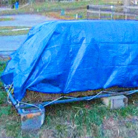 Suelo de camping - LONA DE RAFIA 2,5 X 3,6 - azul
