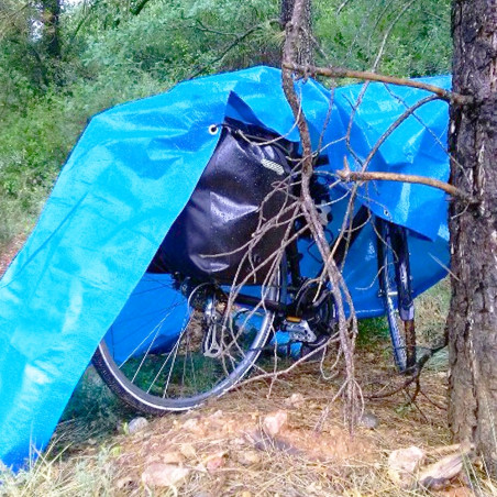 Suelo de camping - LONA DE RAFIA 2 X 3 - azul