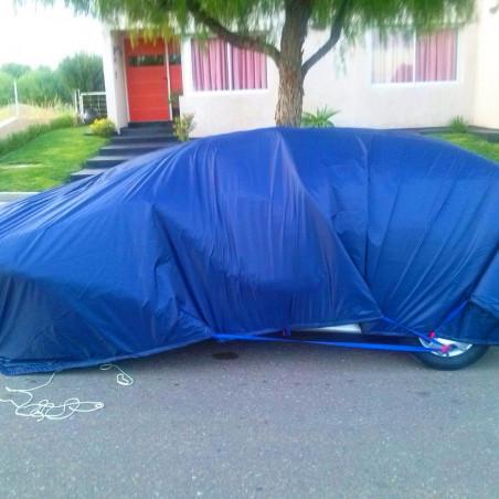 Suelo de camping - LONA DE RAFIA 5 X 7 - azul