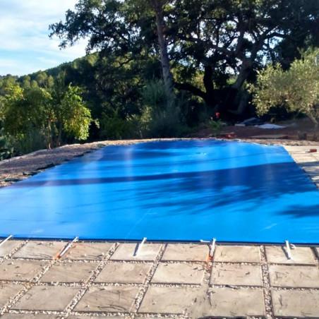 Suelo de camping - LONA DE RAFIA 6 X 8 - azul