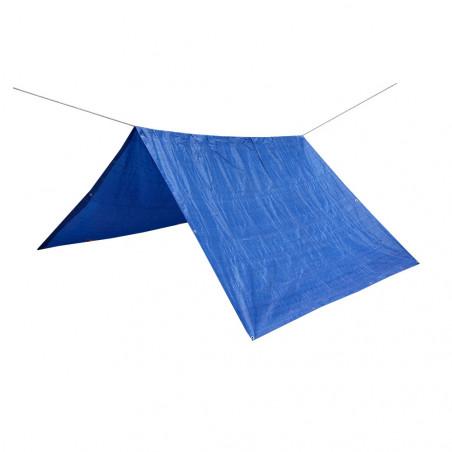 Toldo lona impermeable REFUGIO RAFIA 2,5 X 3,6 con cuerda nylon de 20 m - azul