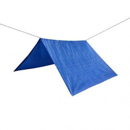 Toldo lona impermeable REFUGIO RAFIA 2 X 3 con cuerda nylon de 20 m - azul