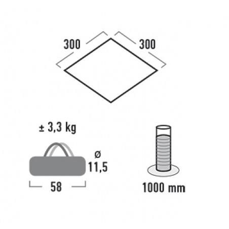 Lona chillout HighPeak TARP 3x3 M