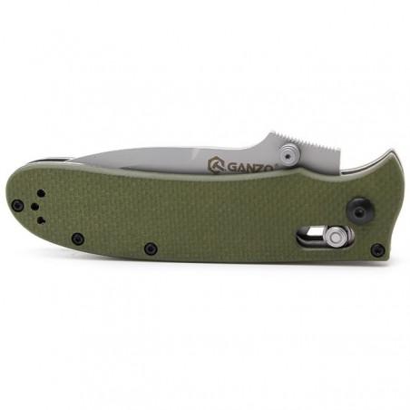 Navaja plegable de bolsillo Ganzo G704 KNIFE acero – verde camu