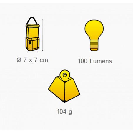 Lámpara recargable para tienda OZtrail RECHARGEABLE TENT LIGHT 100 lúmenes