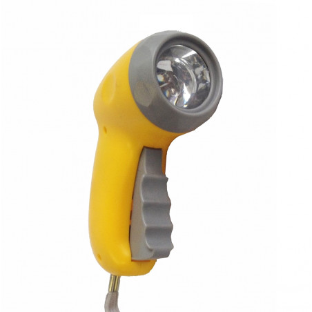 Linterna DINAMO 3 LEDS - amarilla