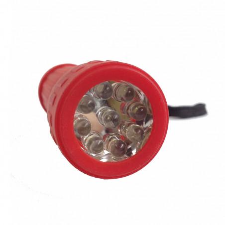Linterna CAUCHO 9 LEDS - roja