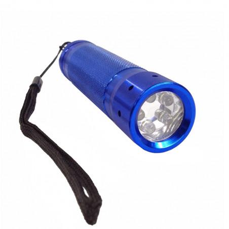 Linterna METÁLICA 5 LEDS - azul