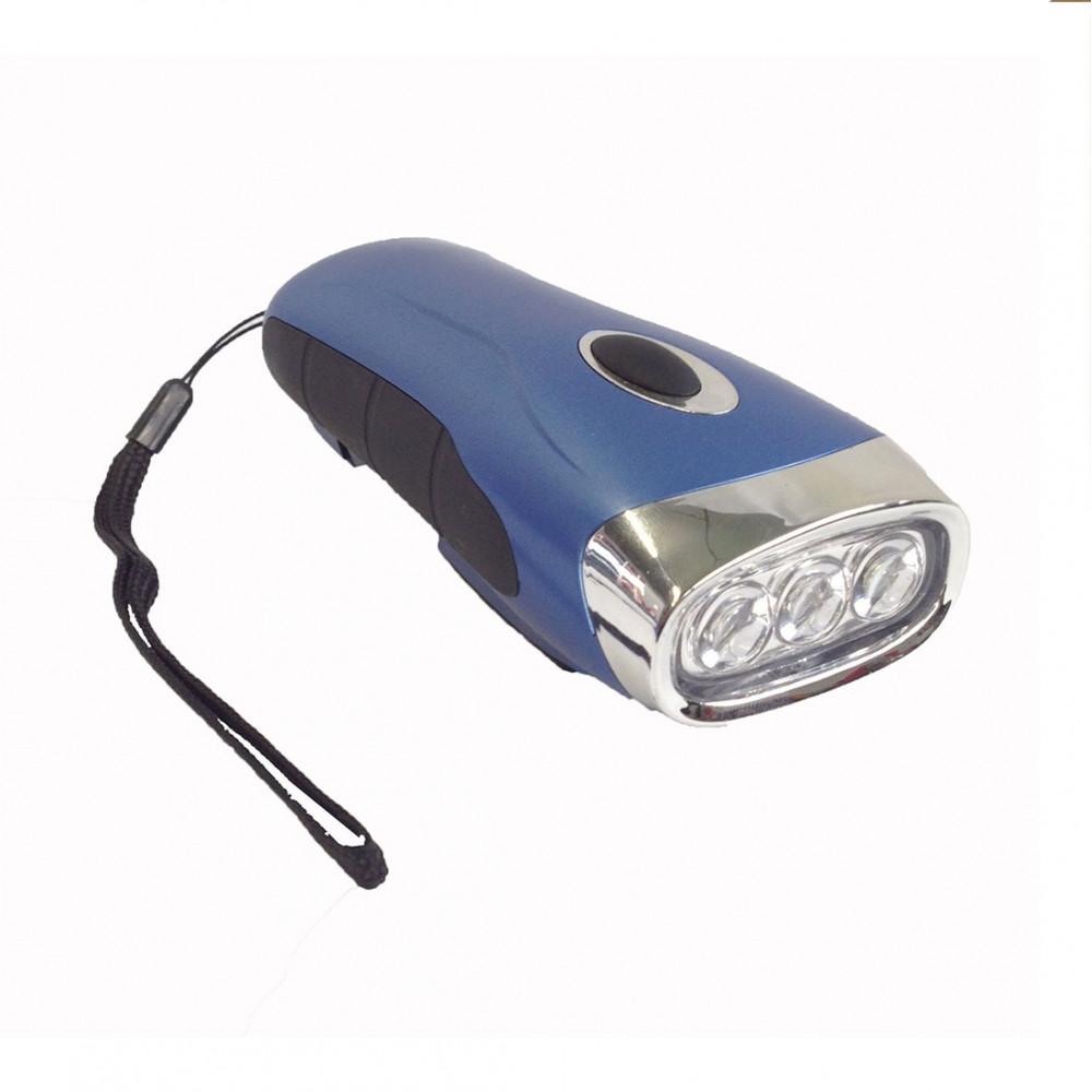 Linterna DINAMO 3 LEDS - azul
