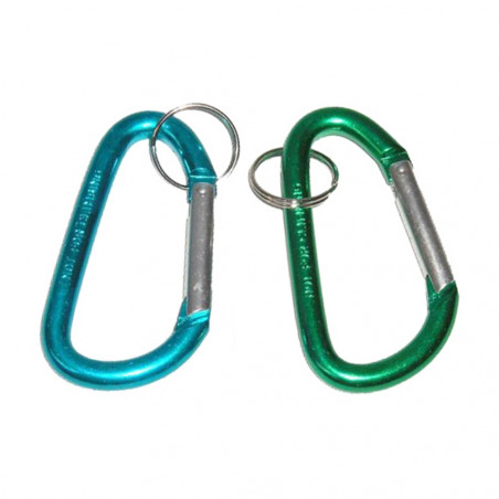 Pack 2 MOSQUETONES 8 CM - azul y verde