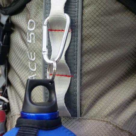 Pack 2 MOSQUETONES 6 CM – aluminio