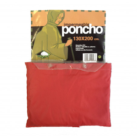 Poncho de PVC Hosa RAIN PONCHO - rojo