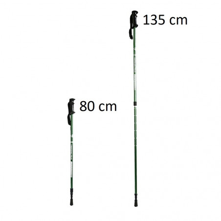 Bastón de trekking Hosa 2 TRAMOS - verde