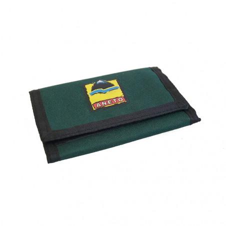 Cartera de tela con cierre velcro ANETO – verde